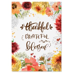 Thankful Grateful Blessed Cards