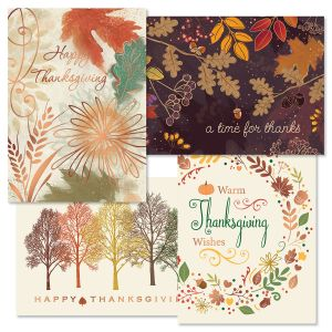 Deluxe Season of Thanksgiving Cards
