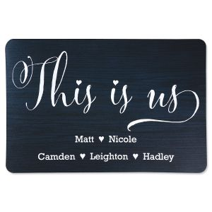 This Is Us Personalized Doormat
