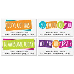 Encouragement Friendship Deluxe Address Labels (4 Designs)