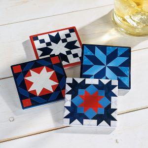 Americana Quilt Coasters