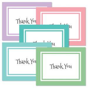 Thank You Border Note Cards - BOGO