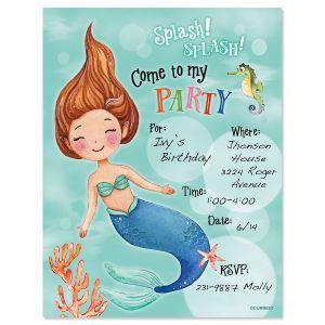Mermaid Fill-in Invitation - BOGO