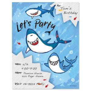 Shark Fill-in Invitation - BOGO