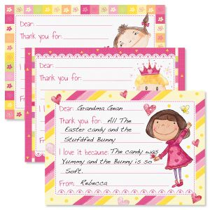 Fun Girls Fill-in Kids Thank You Cards
