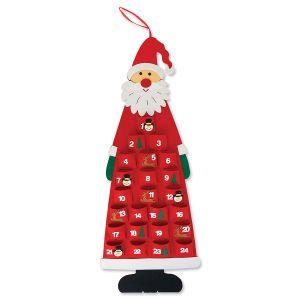 Felt Christmas Countdown Santa