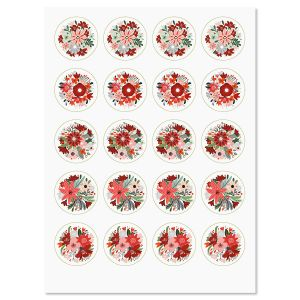 Winter Floral Stickers