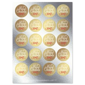 Christmas Word Gold Foil Stickers