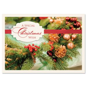 Wreath of Wishes Religious Christmas Cards