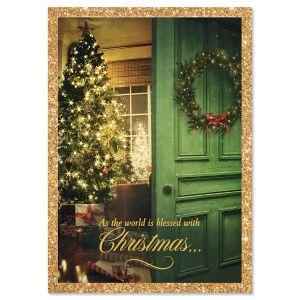 Christmas Door Religious Christmas Cards