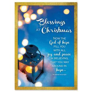 Lantern In Snow Religious Christmas Cards