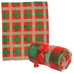 Red/Green Plush Throw