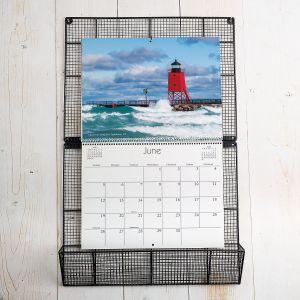 Vintage Grid Wire Calendar Holder
