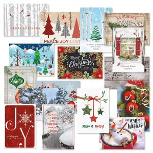 Classic Christmas Cards with Seals Value Pack - Set of 32