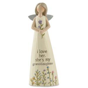 Granddaughter Blossom Bucket Angel Figurine