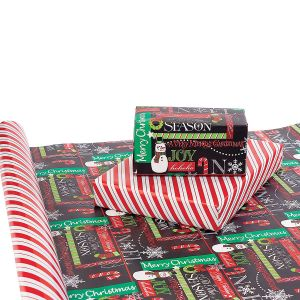 Chalk It Up Christmas Double-Sided Jumbo Rolled Gift Wrap