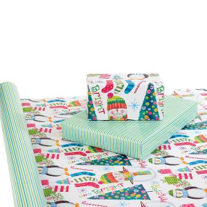 Merry & Bright Double-Sided Jumbo Rolled Gift Wrap
