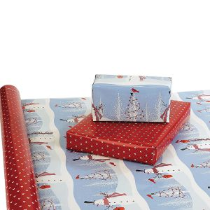 Winter Visitor Double-Sided Jumbo Rolled Gift Wrap