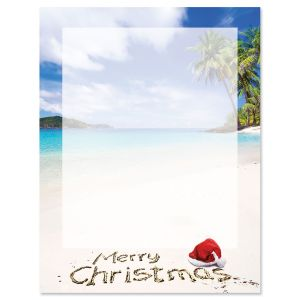 Tropical Christmas Letter Papers