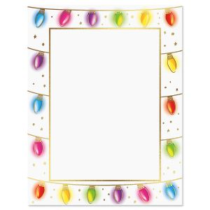 Foil Holiday Lights Christmas Letter Papers