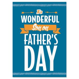 Wonderful Son on Father's Day Card