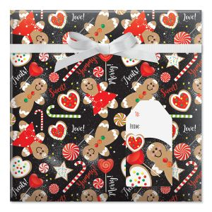 Sweet Treats Jumbo Rolled Gift Wrap and Labels