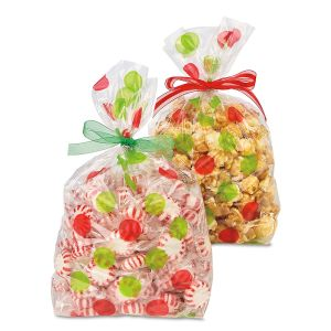 Green & Red Dots Cello Bags