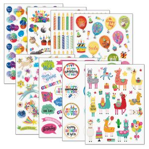 Birthday Stickers Value Packs