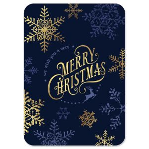 Snowflake Deluxe Foil Christmas Cards