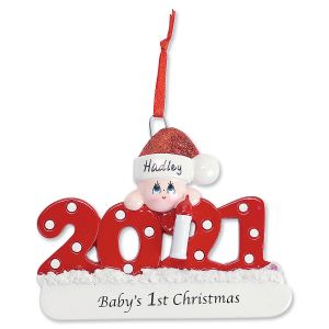 2021 Baby's 1st Personalized Christmas Ornament