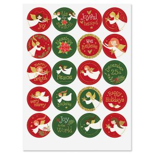 Round Angel Song Stickers