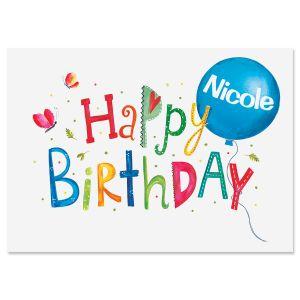 Birthday Balloon Personalized Birthday Card