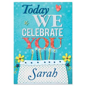 We Celebrate You Personalized Birthday Card