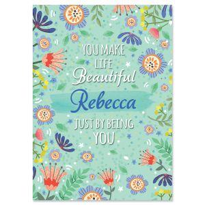 Beautiful Birthday Personalized Birthday Card