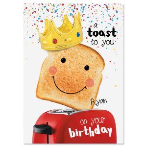Birthday Toast Personalized Birthday Card