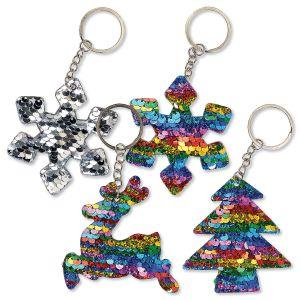Christmas Sequin Keychains - BOGO