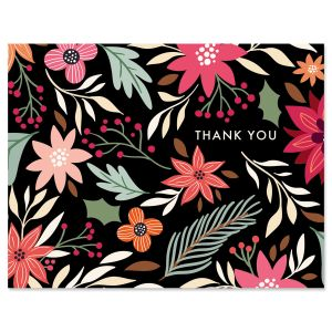 Winter Bouquet Thank You Note Cards
