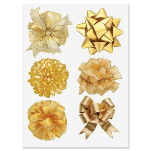 Gold Bow Stickers - BOGO