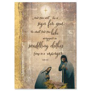 Nativity Star Religious Christmas Cards