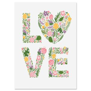 Floral Love Personalized Wedding Card