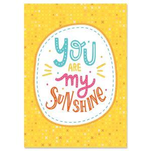 My Sunshine Personalized Friendship Card