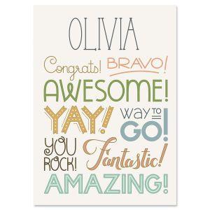 Celebration Personalized Congratulations Card