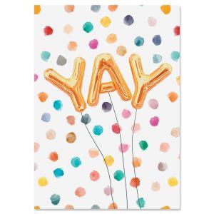 Yay Confetti Personalized Celebration Card