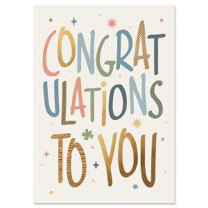 Big Congratulations Personalized Celebration Card
