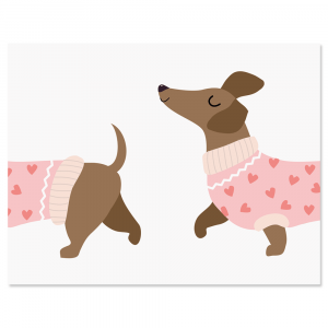 Dachshund Personalized Note Cards