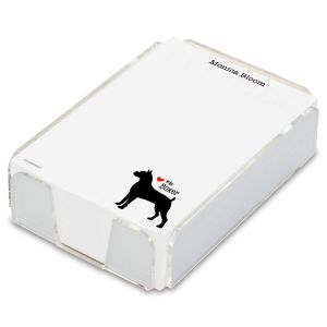 Dog Breed Personalized Notes in a Tray