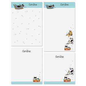 Cat Sketches Personalized Notepads