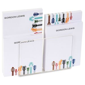 Guitar Personalized Notepad Set