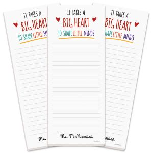 Teacher Personalized Shopping List Pads