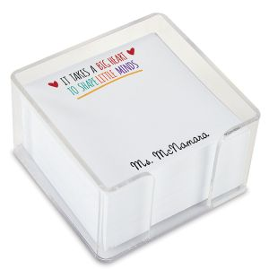 Teacher Personalized Note Sheets in a Cube